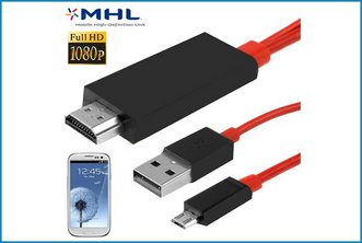 Cable MHL MicroUSB a HDMI MHL Galaxy S4 / S3 - 2m