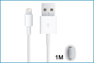 CABLE USB IPHONE 5 / IPAD MINI LIGHTNING . 1M BLANCO